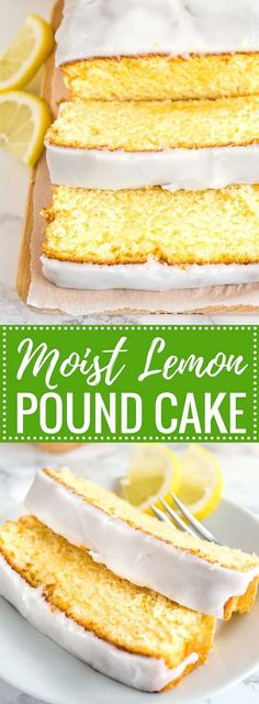 This moist Lemon Cake Recipe is fluffy, tangy and so easy to make from scratch! Every bite of this supremely moist pound cake is bursting with lemon flavor. If you like the Starbucks Lemon Loaf then you'll love this homemade lemon pound cake! Homemade Cake Recipes, Pound Cake Recipes, Baking Recipes, Loaf Recipes, Lemon Recipes Baking, Homemade Lemon Cake, Baking Pan, Homemade Vanilla, Cake Baking