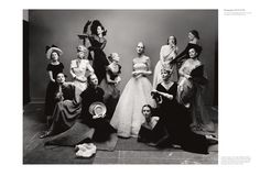 Irving Penn: The Twelve Most Photographed Models, New York, 1947. Isn't this amazing? Now they are all old, wrinkled, and most likely have passed. What really matters in life? To KNOW the One, true God and Jesus Christ, whom He has sent, to love people, and to walk humbly with the Lord. All else is vanity and a chasing after the wind...