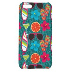 Beach Party Flip Flops Sunglasses Beach Ball Blue iPhone 5C Cases SOLD on Zazzle
