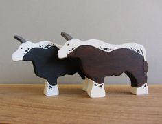 Wooden Heritage Oxen Figures Waldorf Wood Ox  Animal Toy