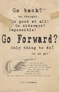 The Hobbit Quote Art Print
