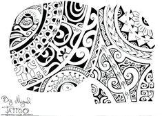 Polynesian Tattoo Drawings   Deuxième Dessin de Tatouage d'Armure Maori Polynésien sur l'épaule ...