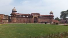 The 16th-century Red Fort of Agra, made of red sandstone, is a UNESCO World Heritage Site #Travel