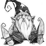 gnome with wizard hat