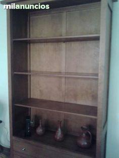 . Mueble de comedor, de estantes de madera y 2 cajones. 193 x 98 x 36. Perfecto estado. Buena calidad.