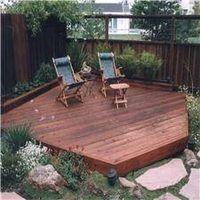 Like the big rocks and plants around this deck!