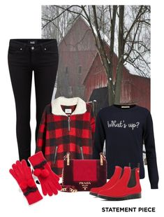 """Go Bold:  Statement Coats!"" by shamrockclover ❤ liked on Polyvore featuring Paige Denim, Étoile Isabel Marant, Chinti and Parker, Prada, RED Valentino, Kate Spade and statementcoats"