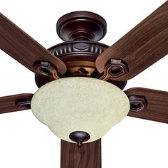 "HUNTER HR 21316 52"" Ceiling Fan Aged Umber and Fontana W/ Light & 5 Dk Walnut/Cherried Walnut Blades Hunter http://www.amazon.com/dp/B00370H18Y/ref=cm_sw_r_pi_dp_3XlDwb0KE94T2"