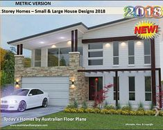 Distinctive 2 Storey Homes Designs - Two Storey House Design Book - Australian and International Home Plans On Sale Today ! House Plans Online, House Plans For Sale, Small House Floor Plans, Australian House Plans, Australian Homes, 2 Storey House Design, Duplex Design, Feng Shui, Plan Duplex