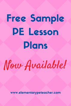 Get FREE Sample PE Lesson Plans!