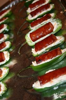 bacon wrapped lil smokies jalapeno poppers, I know some boys that would flip their lids for these little guys!