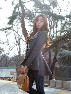 Winter Dovetail Wool Coat Designer Irregular Long Slim Blazer