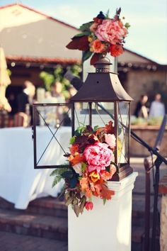 Bright Pink Peonies with Fall Foliage | Lukas and Suzy | Bright and Colorful Classic Fall Wedding