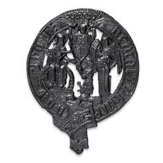 A funeral badge from the burial of the Black Prince, 1376.