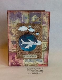 American Vintage Travel Card by Kimberly New - Sticking it down with Love My Tapes | Scrap n' Art Online Magazine - Information. Inspiration. Education. Since 2008.