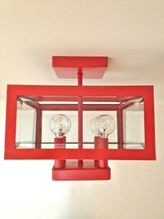GORGEOUS SHINY THINGS: Just Sprayin'... home depot light fixture makeover