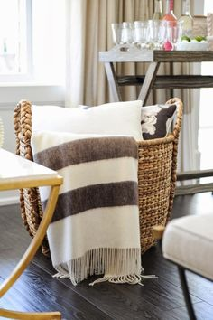 don't forget the throws for evening's chilly air