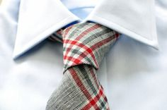 Plaid tie. Follow Hucklebury for daily dose of fresh and inspirational styles that makes you smile everyday ! Facebook us ! Be Inspired with Hucklebury ! We make awesome clothes from 100% Egyptian...