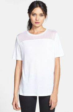 i love this white sheer yoke tee {40% now during Nordstrom's Half Yearly Sale!!}