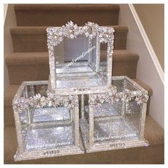 Crystallized bling shoe box for wedding shoes call 818-817-7575 ...