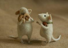 Stuffed Animals by Natasha Fadeeva - two small mice