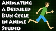 Animating a Running Character in Anime Studio - By using a combination of onionskins, frame labeling and bone coloring, it's very possible to create a believable running animation cycle no matter what type of character design is used. Along with this video is a workflow chart you may find useful. This document gives some insights on how to create an effect running cycle.