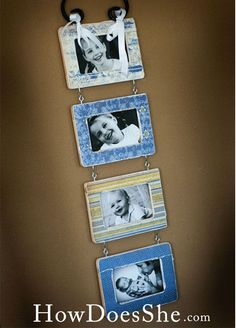 Dollar Store DIY • Tutorials and ideas, including this dollar store frame set made with Mod Podge by 'How Does She?'!