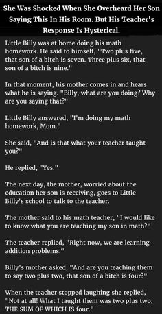 She Was Shocked When She Overheard Her Son Saying This In His Room. But His Teacher's Response Is Hysterical.