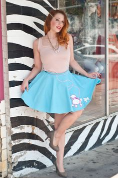 "Poodle Skirt shoot for @Richard ""Eric"" Renteria #EtiquetteVintageDesign #vintage #poodleskirt #fashion Maisonette: Jolie Goodnight's Blog"