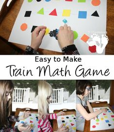 Easy to Make Train Math Game - 3Dinosaurs.com