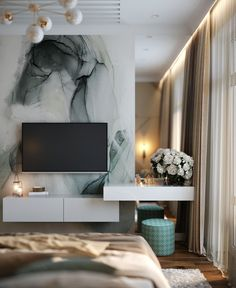 виз спальни visualization of the bedroom on Behance Modern Luxury Bedroom, Luxury Bedroom Design, Modern Master Bedroom, Home Room Design, Stylish Bedroom, Master Bedroom Design, Luxurious Bedrooms, Home Interior Design, Living Room Designs