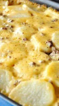 Cheesy Hamburger Potato Casserole Recipe