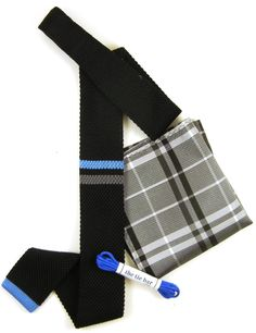 This off-duty attire, perfect for the weekend, showcases cool tones with pops of blue. Try with jeans, a white shirt and blazer, and a pair of gray chukkas for an unforgettable look. www.TheTieBar.com