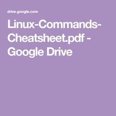 Linux-Commands-Cheatsheet.pdf - Google Drive Programming Languages, Linux, Google Drive, Pdf, Korean, Linux Kernel