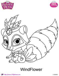Disney Princess Palace Pets Windflower Coloring Page SKGaleana