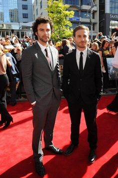 "Interviewer: ""When did you first meet each other?""  Dean O'Gorman: ""It's like we're dating...""  Aiden Turner: ""I know!"""