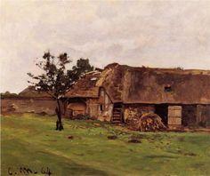 Farm near Honfleur (1864) | Claude Monet | Claude Monet (1840 - 1926) | | http://www.pinterest.com/richtapestry/impressionism/