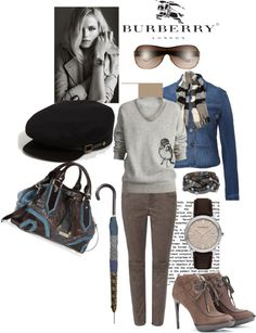 """""""Burberry ~ Iconic British Luxury Brand Est. 1856"""" by stacy-morgan ❤ liked on Polyvore"""