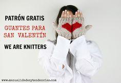 Patrón gratis de guantes para San Valentín www.manualidadesytendencias.com #San #Valentín #Valentine's #day #Saint #Valentin #tejer #punto #knitting #patrón #gratis #free #pattern #guantes #gloves #weareknitters