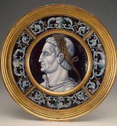 Medaglione con ritratto dellImperatore Tito. Francia, meta del XVI secolo.