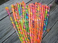 Tutti frutti accent set 6 dreads by ToxicHair on Etsy, $16.00