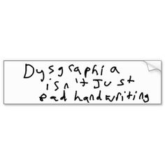 Pictures of what Dysgraphia writing samples can look like