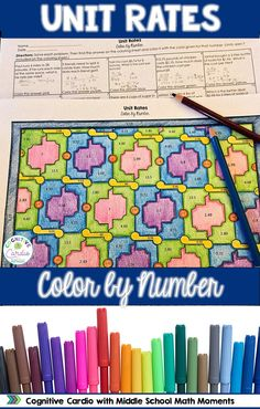 Try this engaging, self-checking color by number to help your students practice finding unit rates. Teaching Numbers, Teaching Math, Teaching Resources, Teaching Ideas, Teaching Tools, Fun Math, Math Activities, Math 5, Middle School Grades