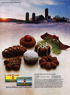 Holiday Chocolate Butter cookies (land o lakes recipe).