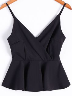 elegant black peplum top