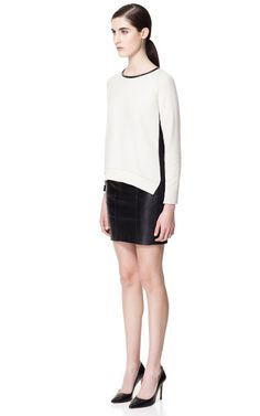 KNITTED TOP WITH LACE SLEEVES - Knitwear - Woman | ZARA United States