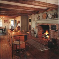 Rustic Colonial Kitchen. ~♥~
