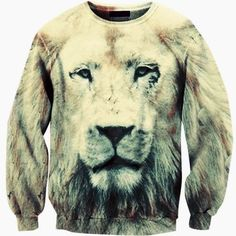 Roarr! Lion sweater from Aloha From Deer, unisex model