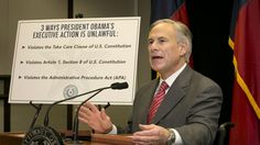 Governor Greg Abbott leads charge in lawsuit over Obama's immigration order