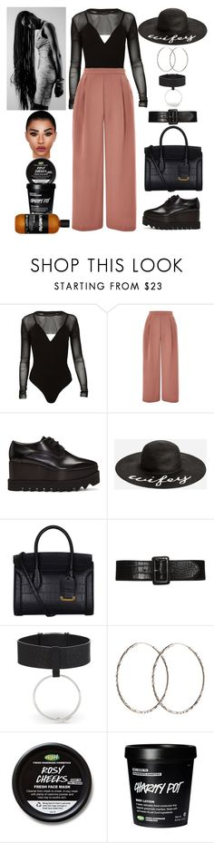 """Interviews: February 12"" by allison-syko ❤ liked on Polyvore featuring Topshop, STELLA McCARTNEY, Ashley Stewart, Alexander McQueen, AMBUSH, Pernille Corydon, 2023 and JazmineVines"